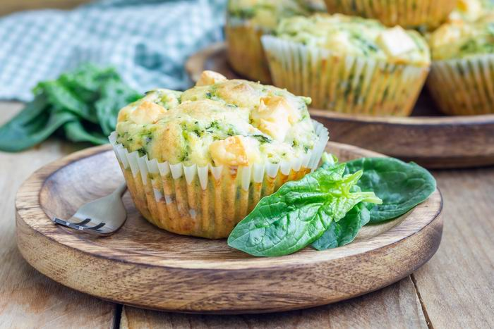 Špenátové muffiny s proteinem VERO diet