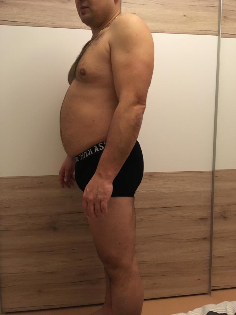 Roman před VERO Keto dietou