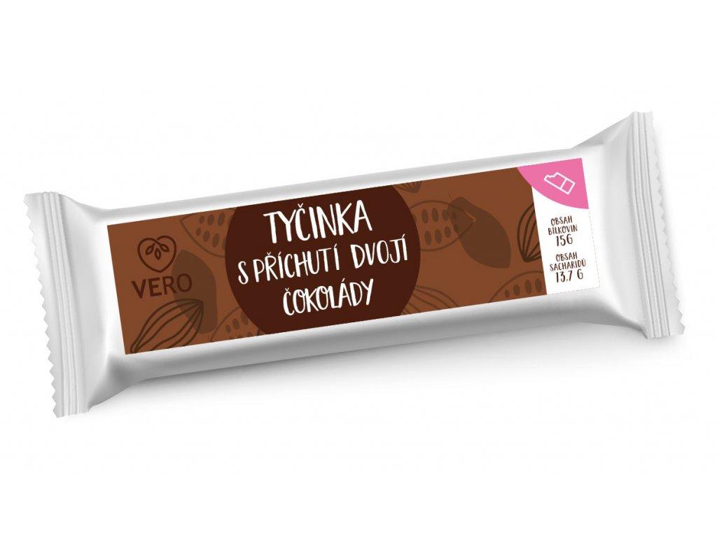 Tyčinka s příchutí dvojí čokolády (42g)  - MOMENTÁLNĚ NEDOSTUPNÉ