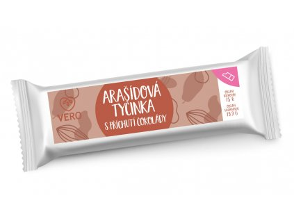 Arašídová tyčinka s příchutí čokolády (42g) - minimální trvanlivost: 30.9.2021