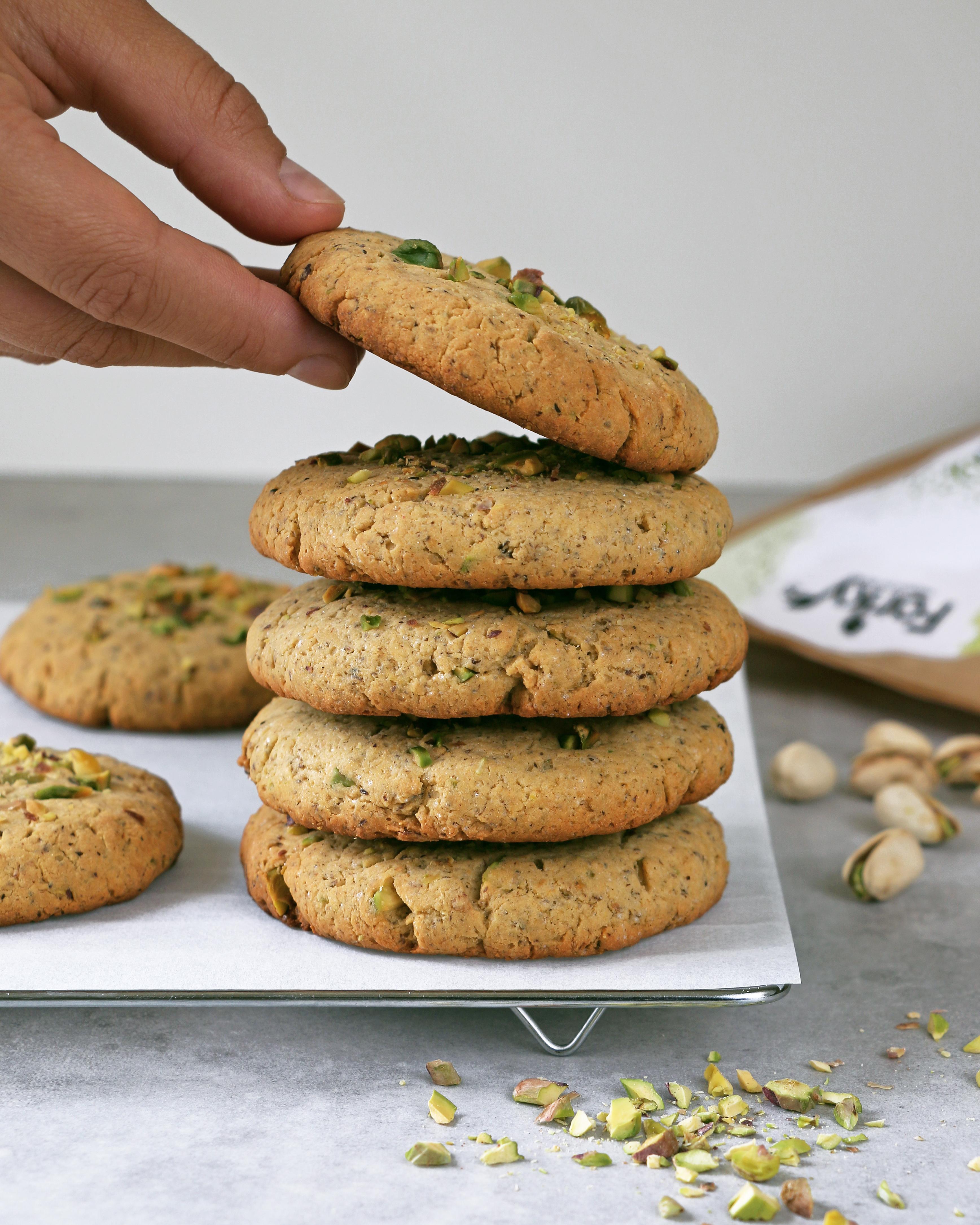 Pistachio Protein Cookies