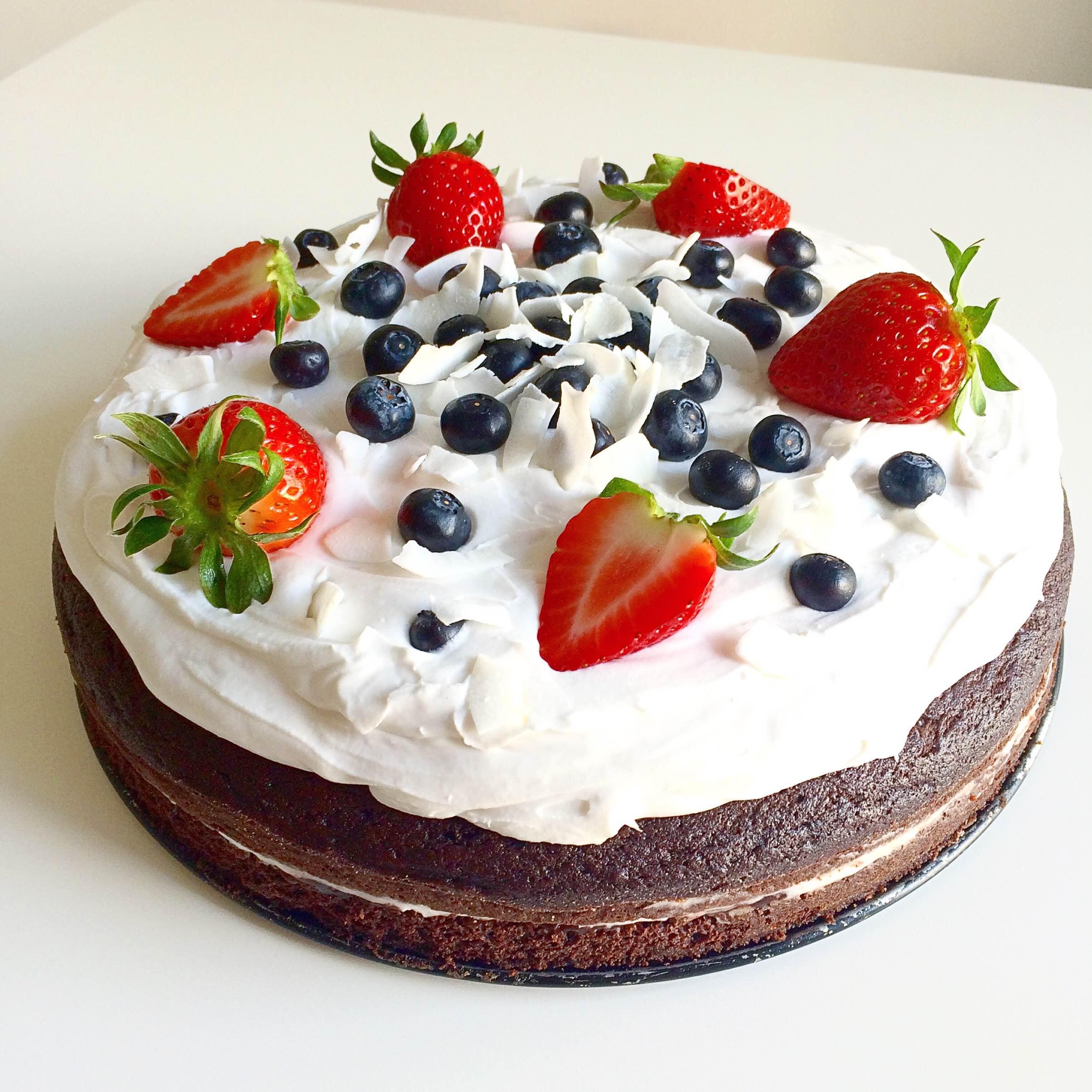 Lehký čokoládový dort