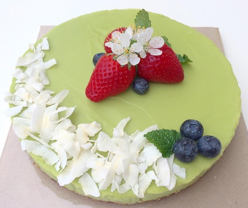 Limetkový raw dort z avokáda
