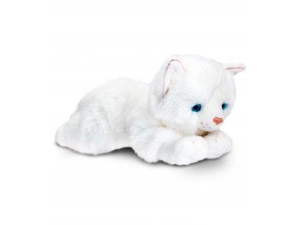Plyšová mačka biela