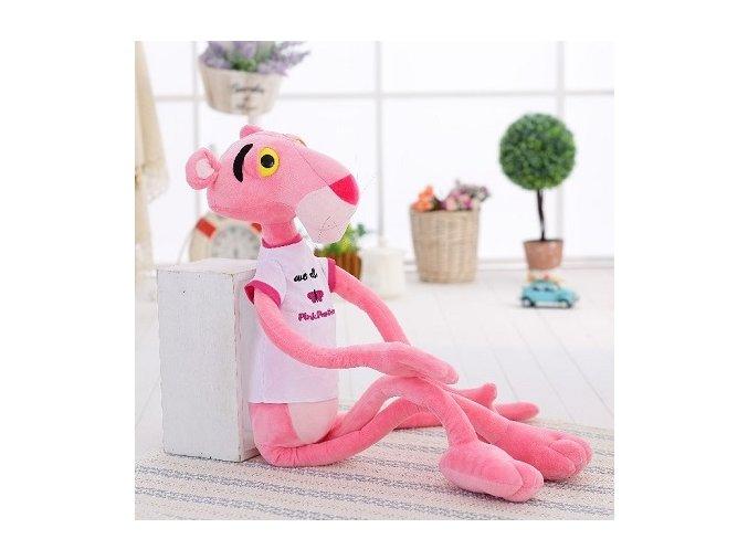 plyšový panter ružový