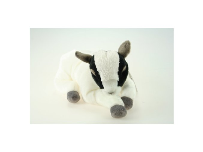 plysova koza biela cierna