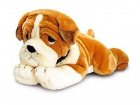 plyšový pes buldog