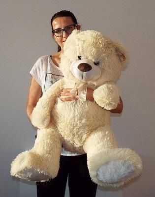 Plyšový medveď krémový