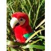 38 plysovy papagaj 28cm