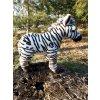 stojaca plyšová zebra