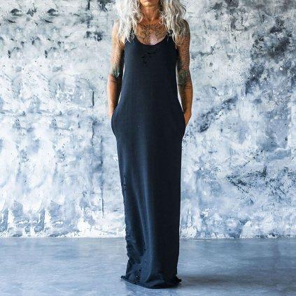 oversize ripped dress