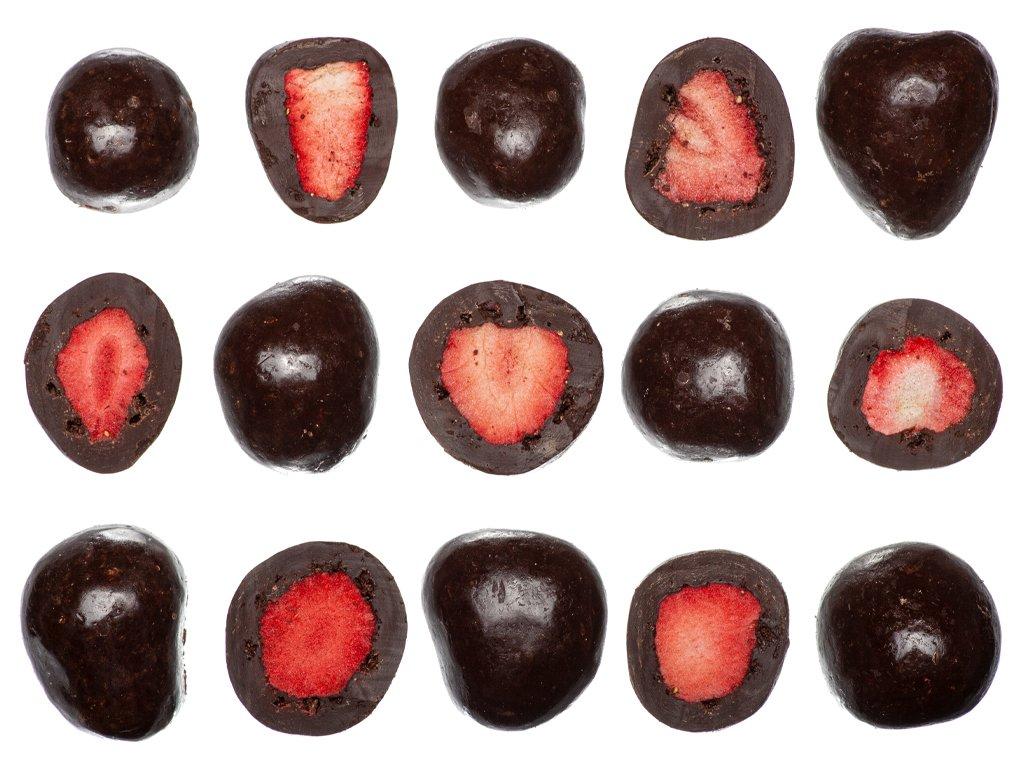 Jahody v hořké čokoládě (sušené mrazem) 1KG
