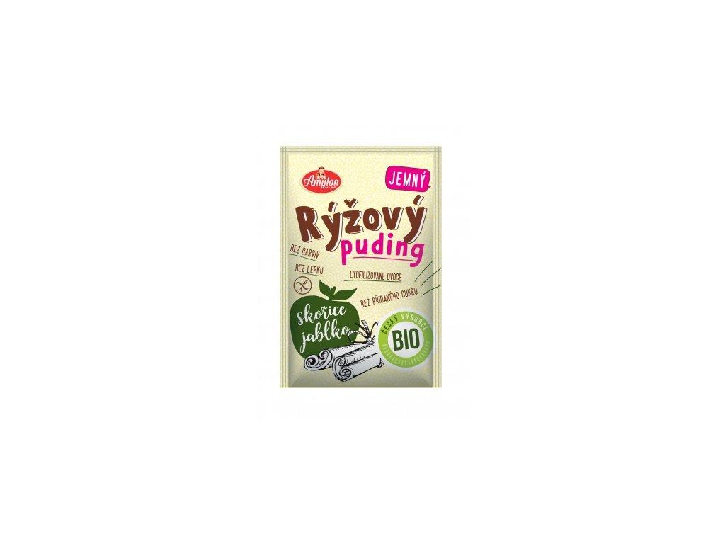 Bio Puding rýžový s jablkem a skořicí Amylon 40g