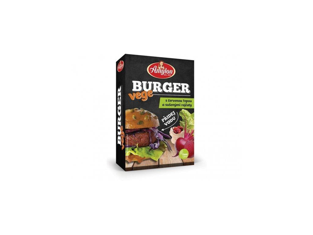 Vege Burger s červenou řepou a sušenými rajčaty Amylon 125g