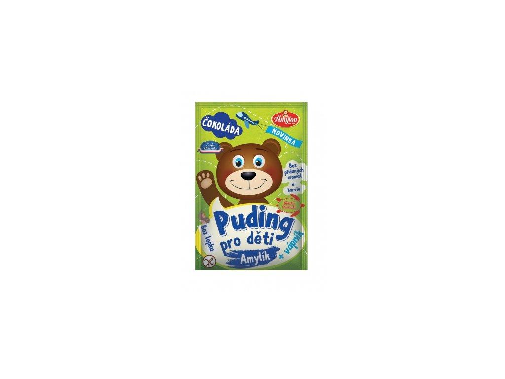 Puding čokoládový pro děti Amylon 40g - bez lepku