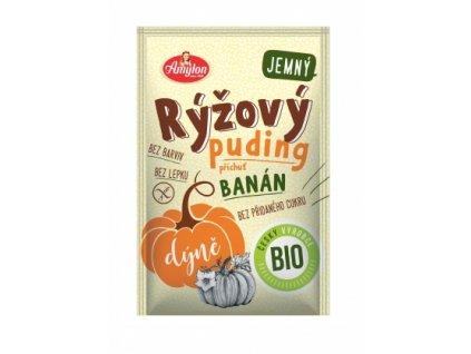 Bio Rýžový puding s dýní a příchutí banánu Amylon 40g