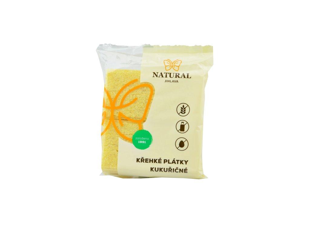 NATURAL Křehké plátky kukuřičné 75g