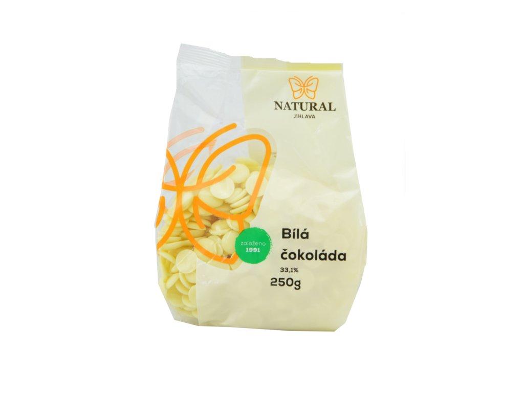 NATURAL Čokoláda bílá 33,1% 250g
