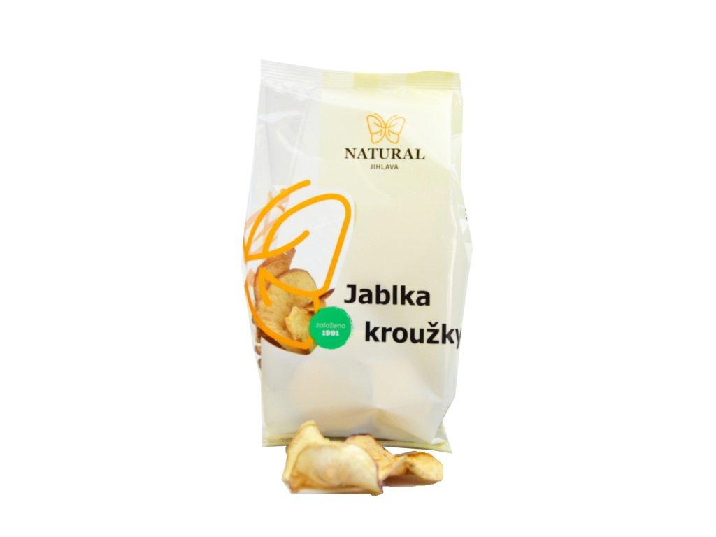 NATURAL Jablka kroužky chips 50g