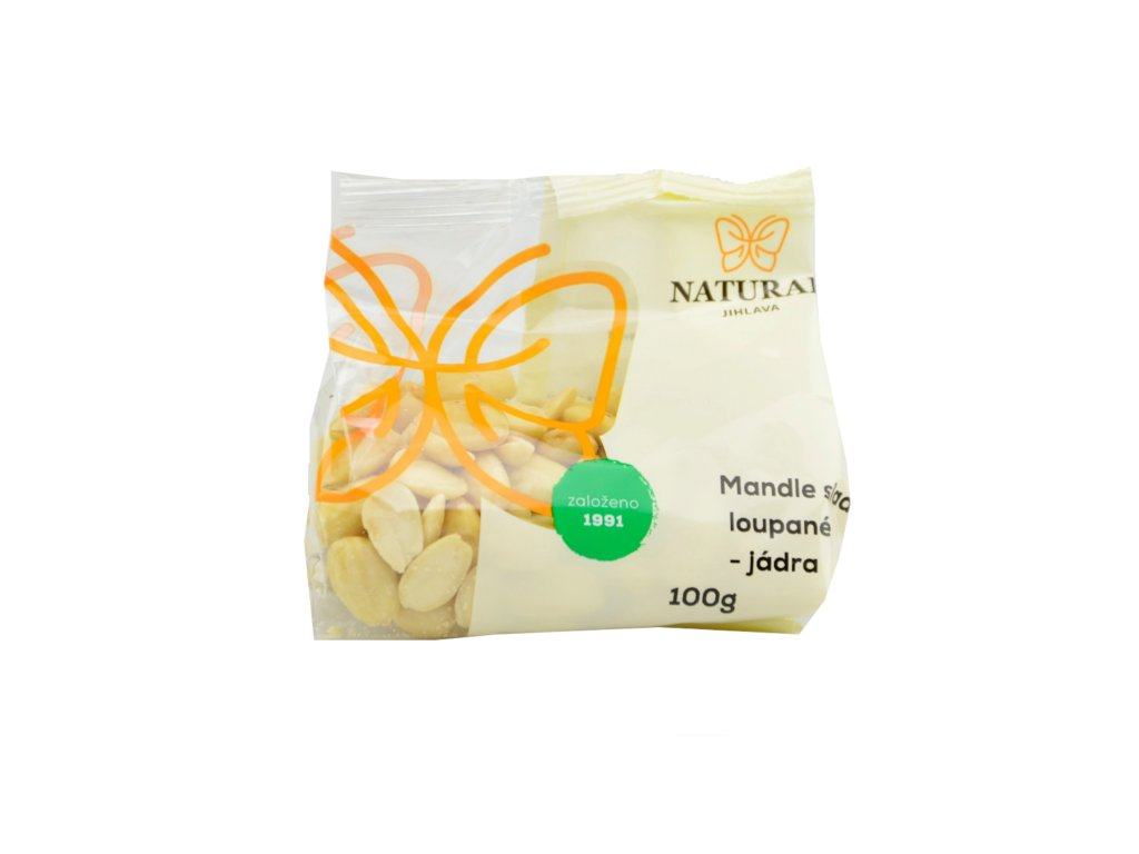 NATURAL Mandle sladké loupané (jádra) 100g