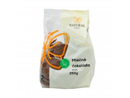 NATURAL Čokoláda mléčná 33,5% 250g