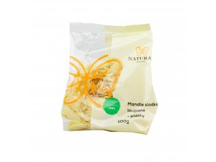 NATURAL Mandle sladké loupané (plátky) 100g