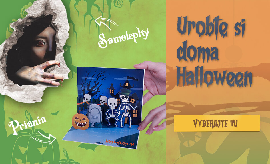 Halloween - Samolepky na stenu a 3D priania