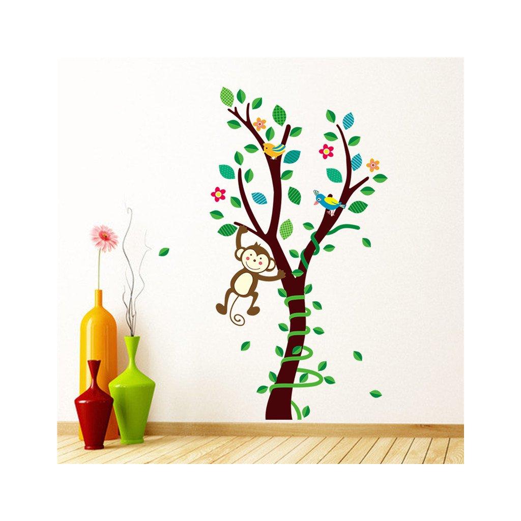 samolepka na zeď Stromeček s opičkou