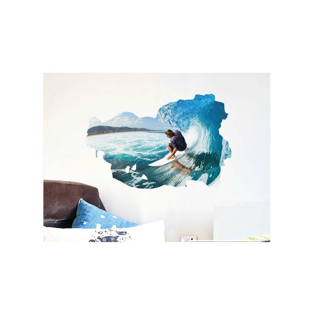 Samolepka Surfer na vlne