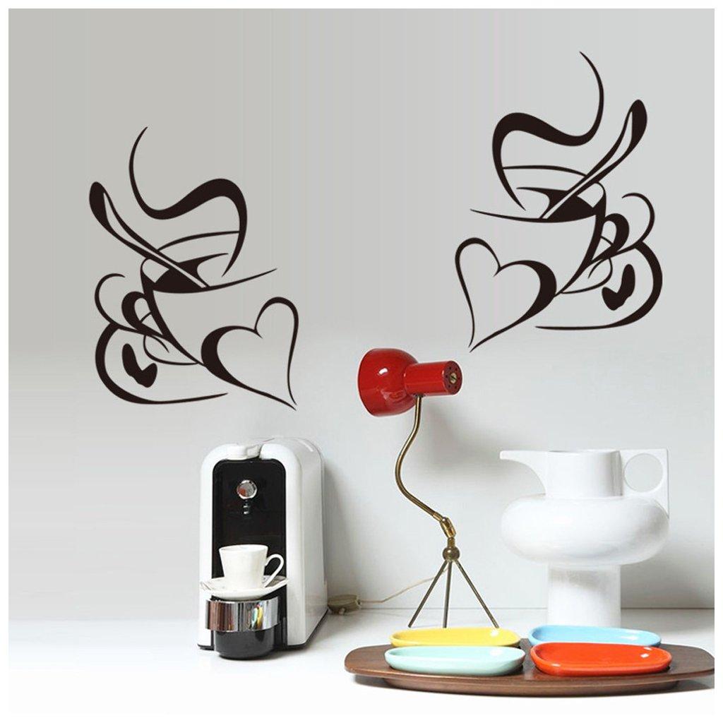 Samolepka Šálky kávy pre zamilovaných