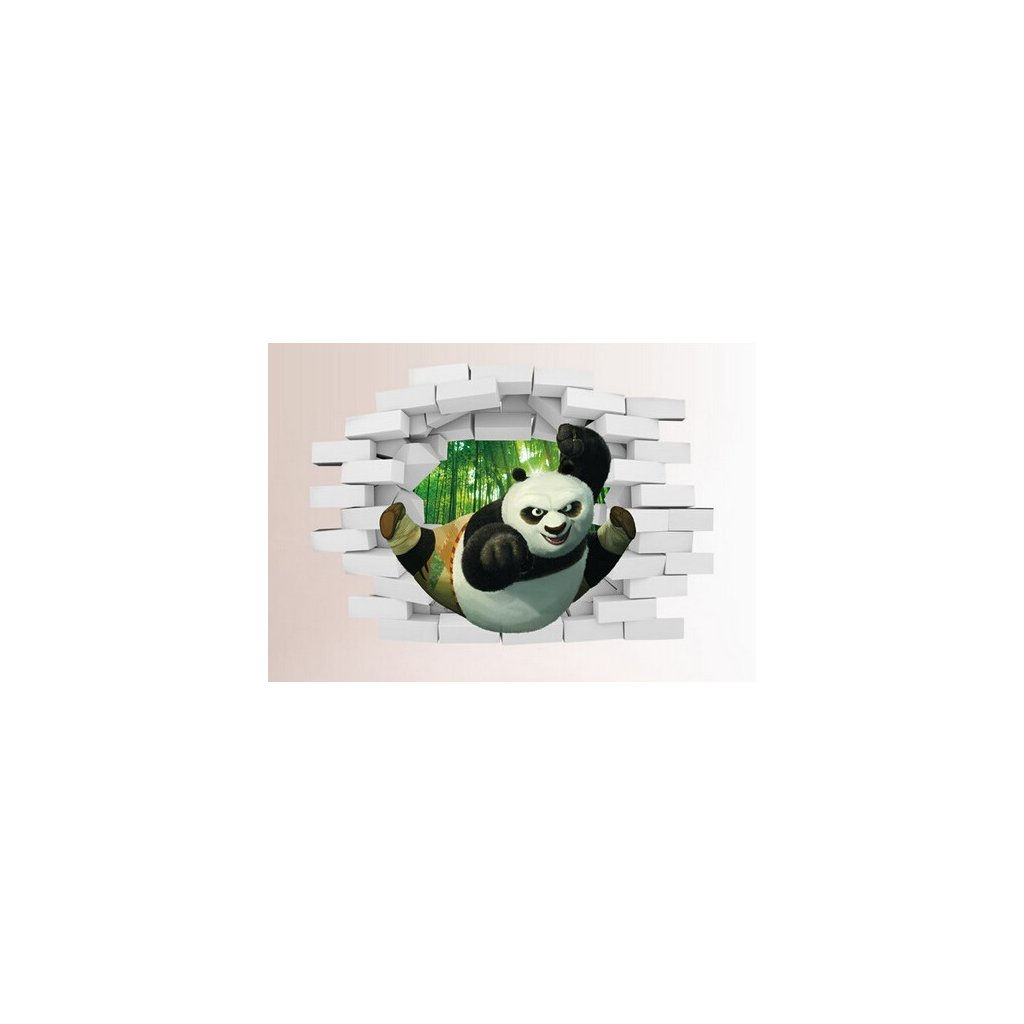 Samolepka na stenu 3D Kung-Fu Panda