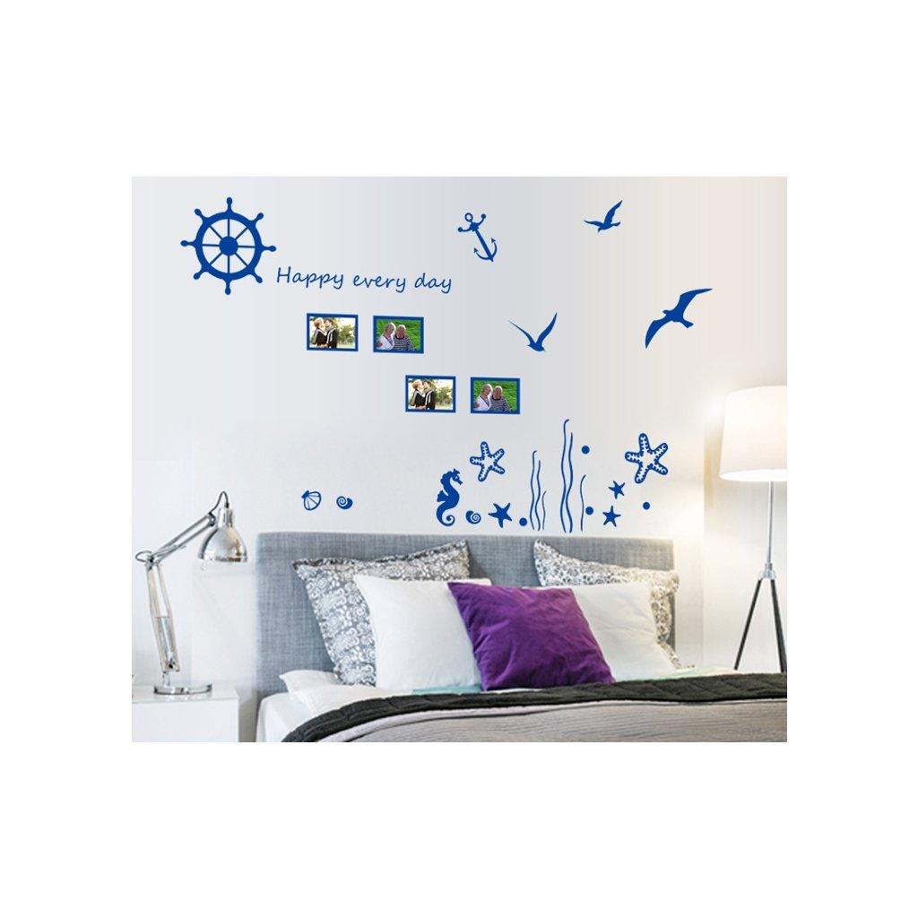 Samolepka na stenu Modré spomienky