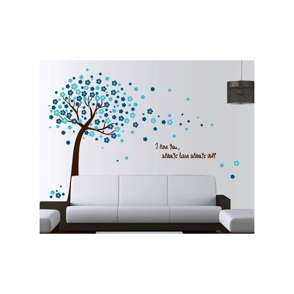 Samolepka na stenu Modrý strom