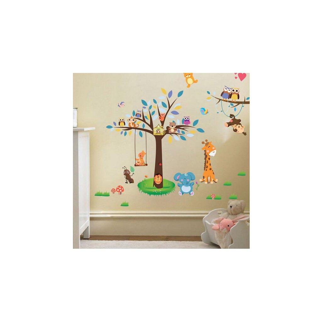 Samolepka na stenu Stromek a zvieratká