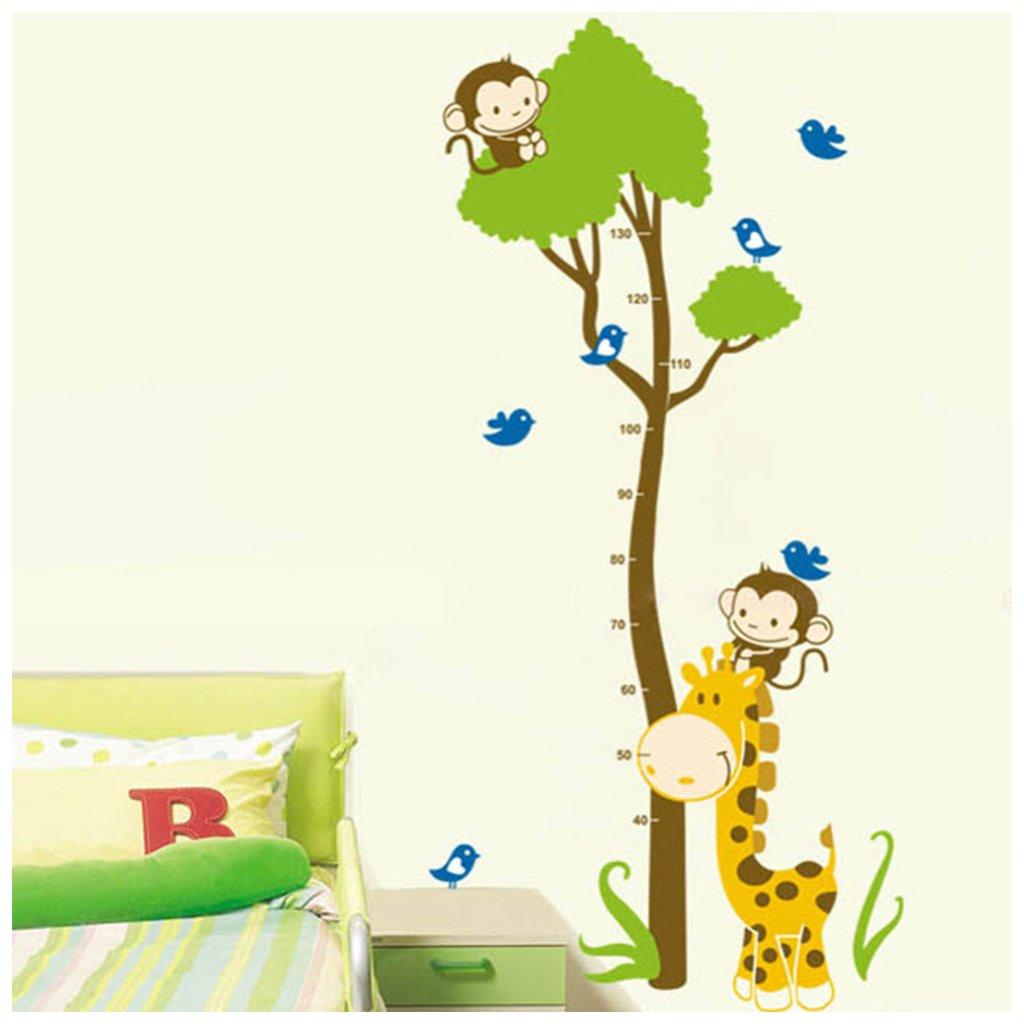 Samolepka na stenu meter Žirafa s opičkami