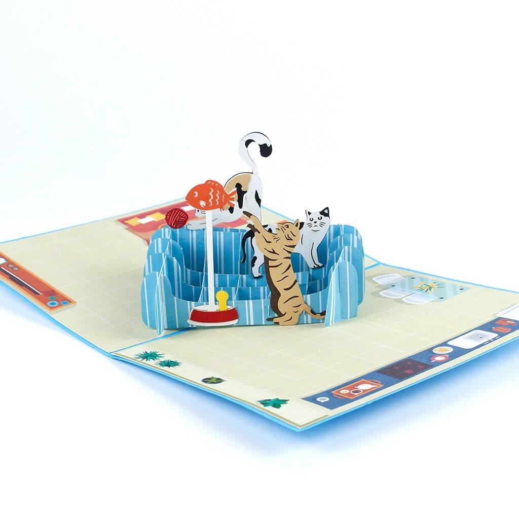 3D prianie Hravé mačky