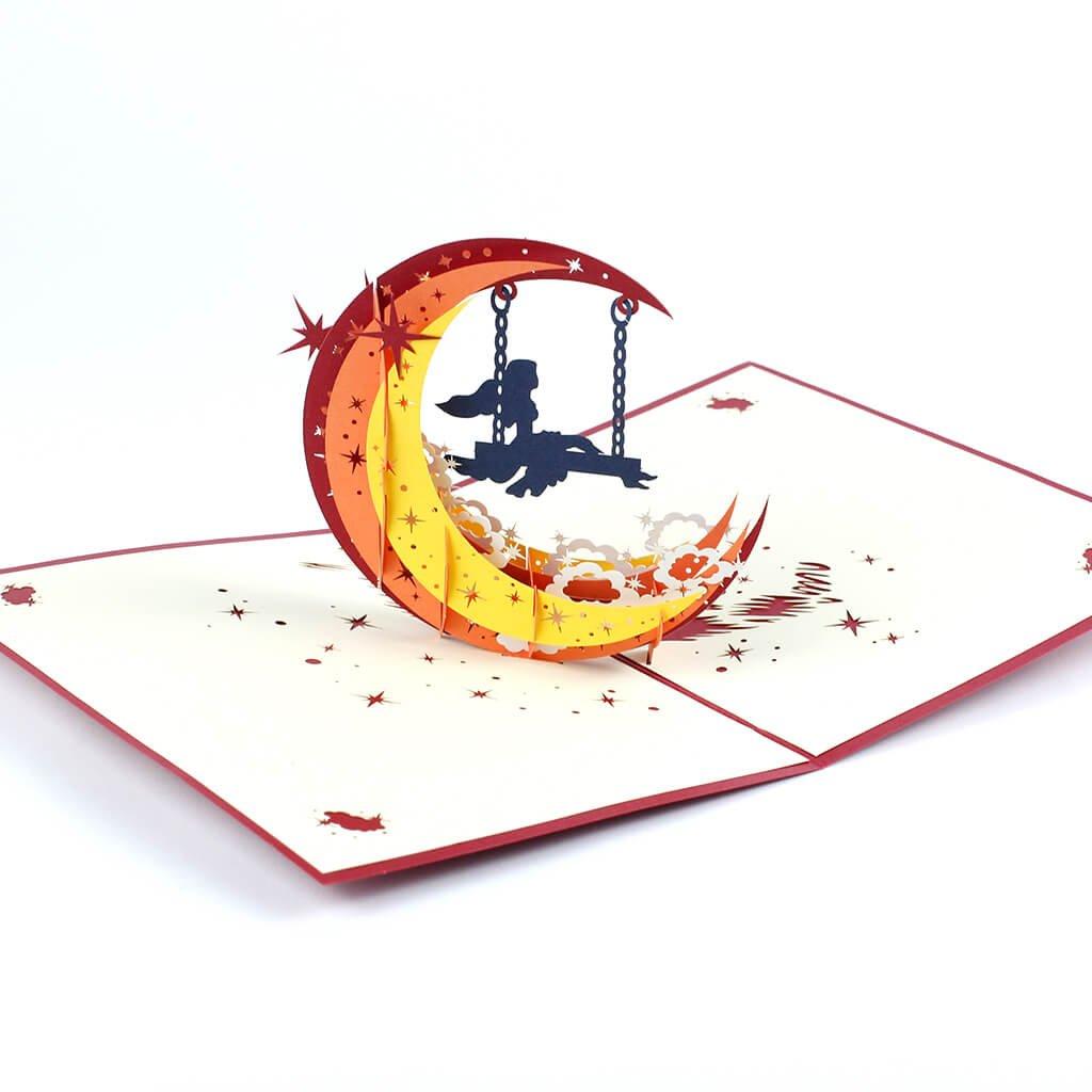 3D prianie Mesačné dievča na hojdačke