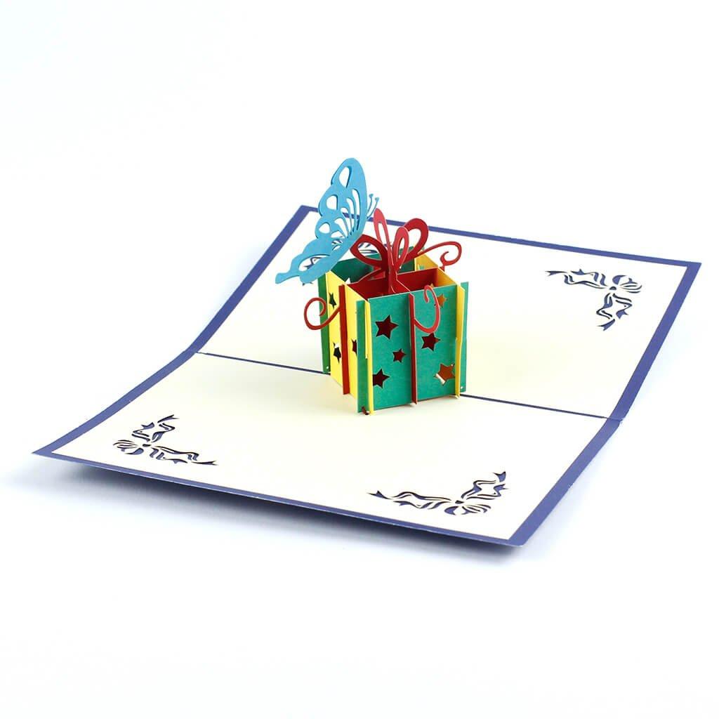 3D prianie Narodeninový darček s motýlikom