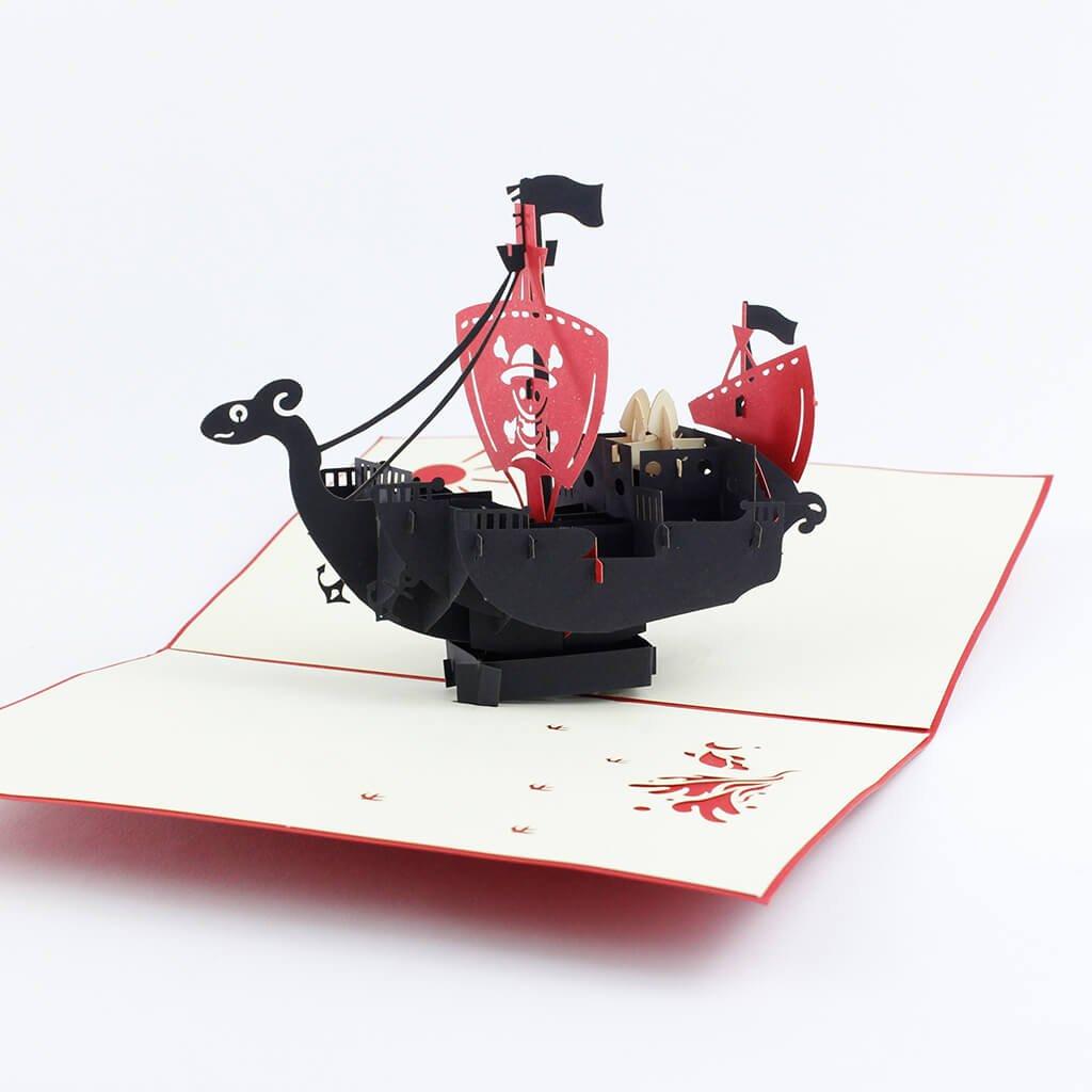 3D prianie Pirátska loď