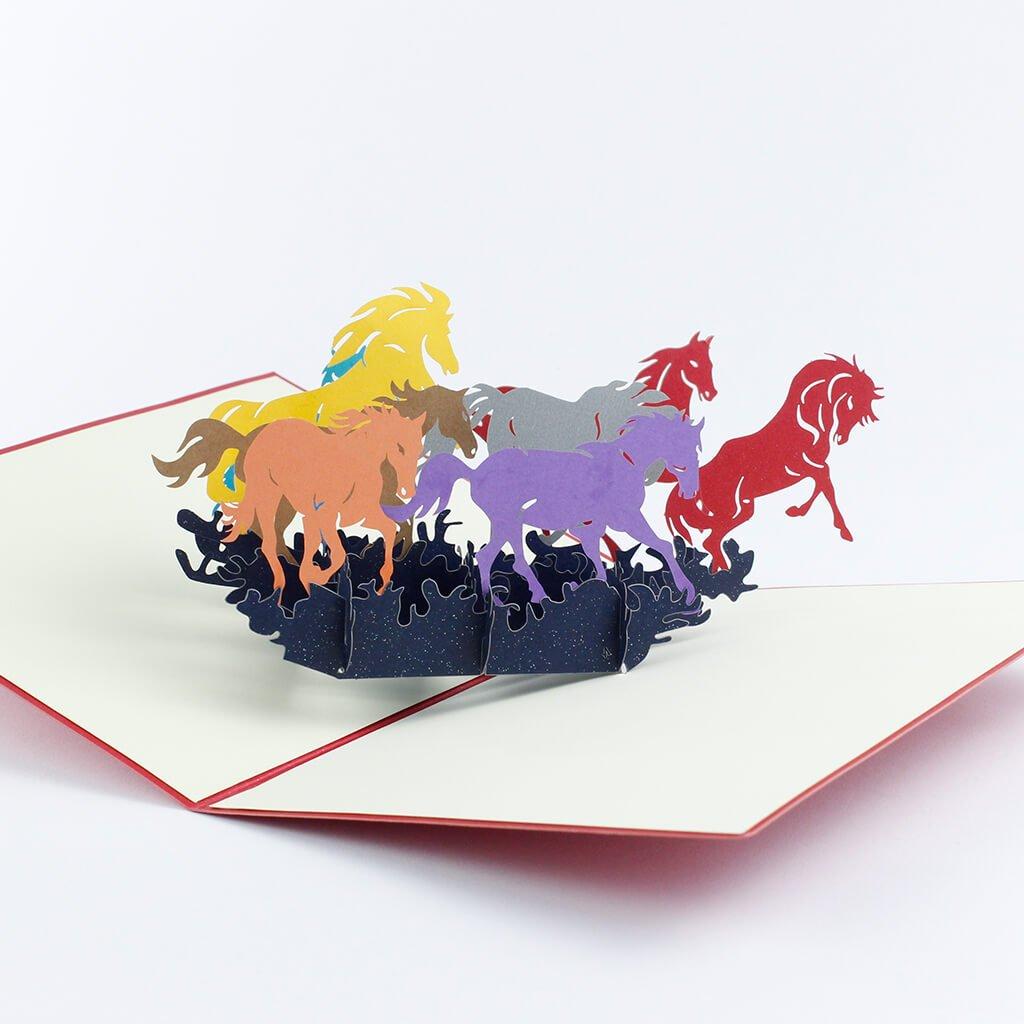 3D prianie Stádo koní