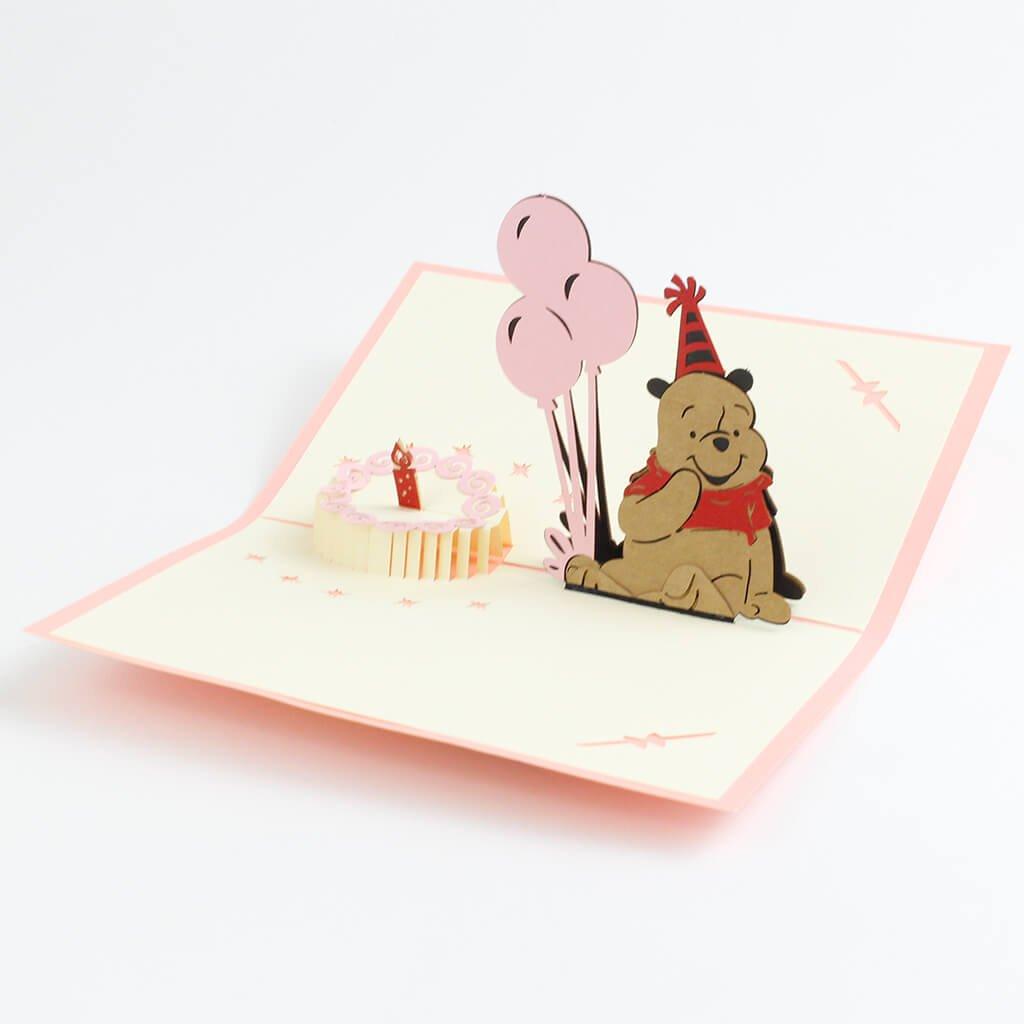 3D prianie Narodeniny s medvedíkom Pú