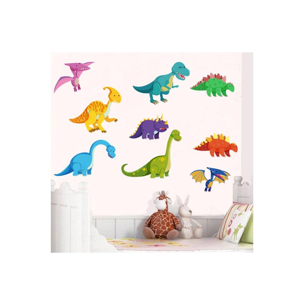 Samolepka na stenu Farební Dinosaury