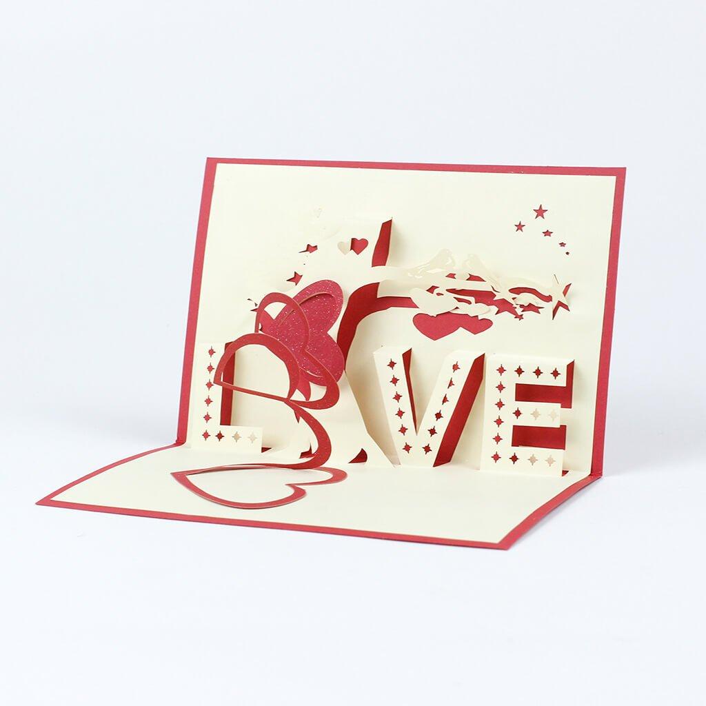 3D prianie Červená láska