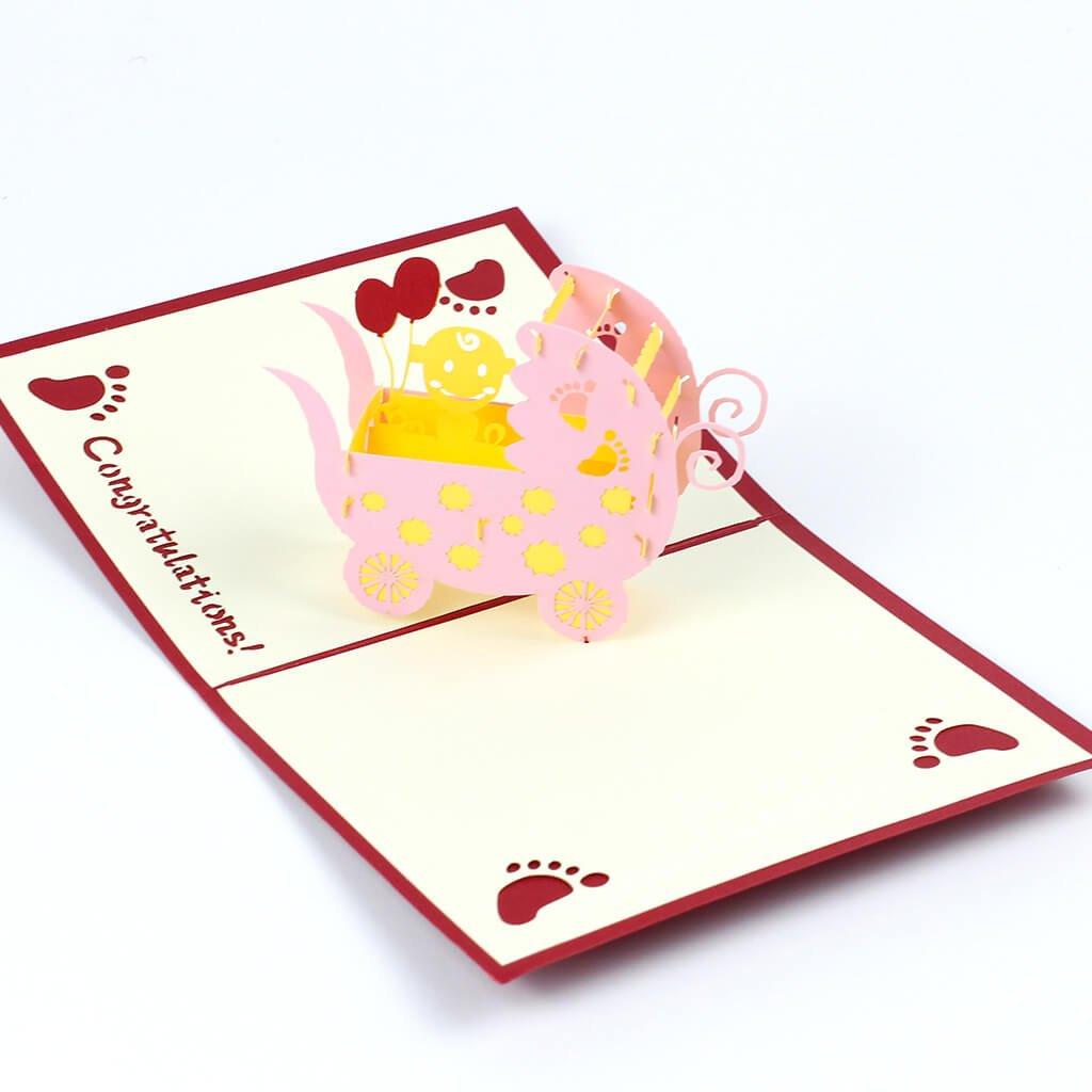 3D prianie Ružový kočík