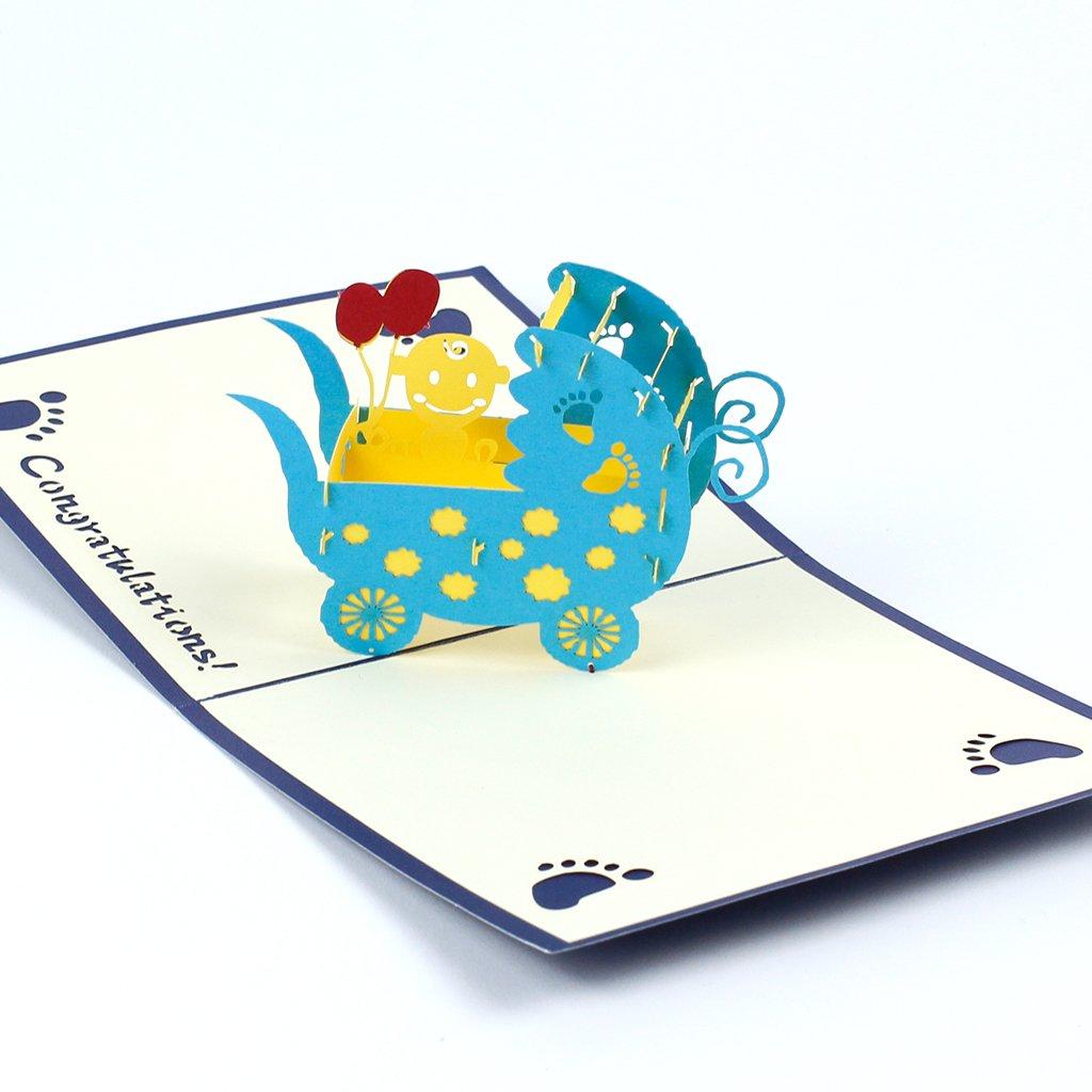 3D prianie Modrý kočík