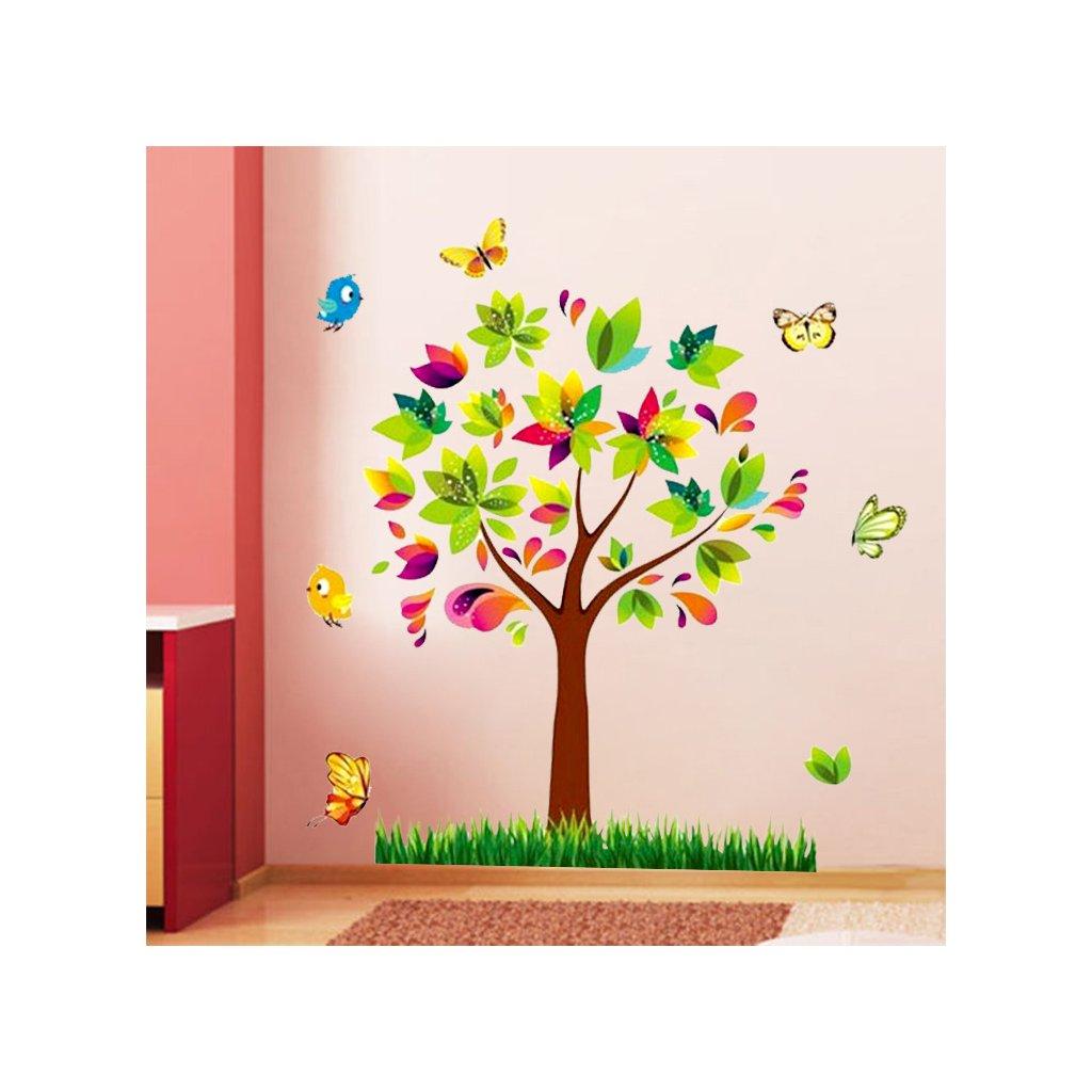 samolepka na stenu Farebný strom