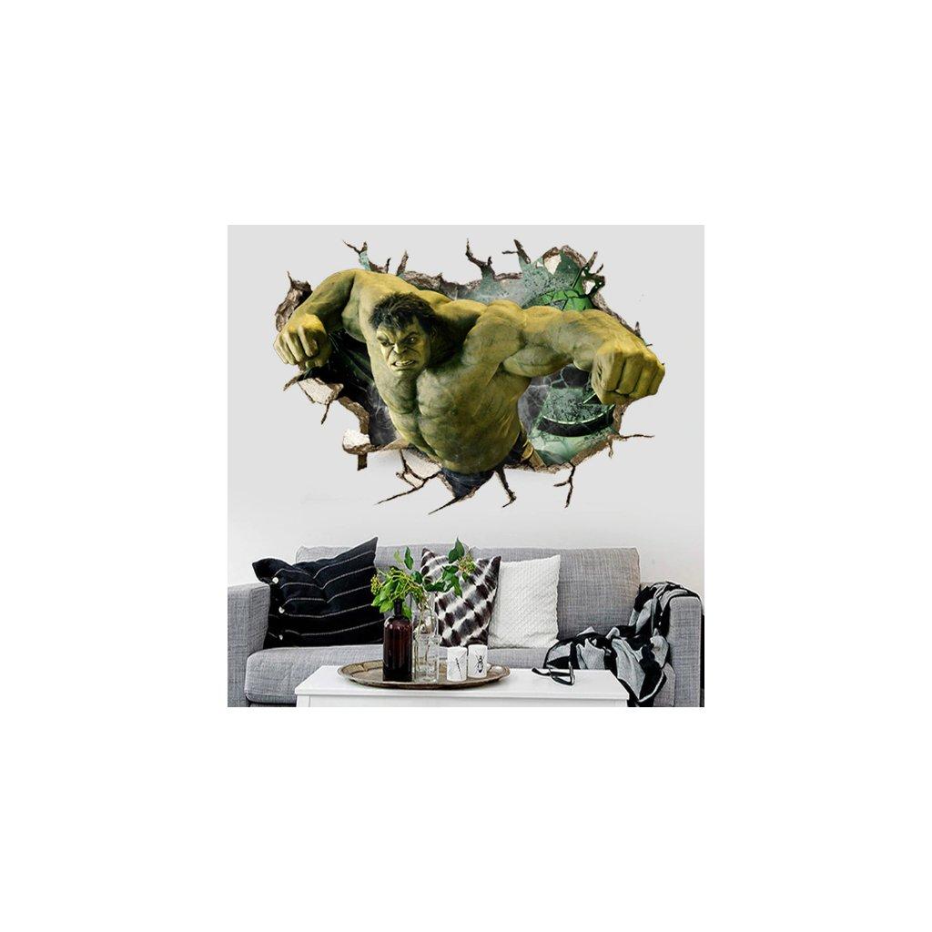 Samolepka na stenu Nahnevaný Hulk z Avengers