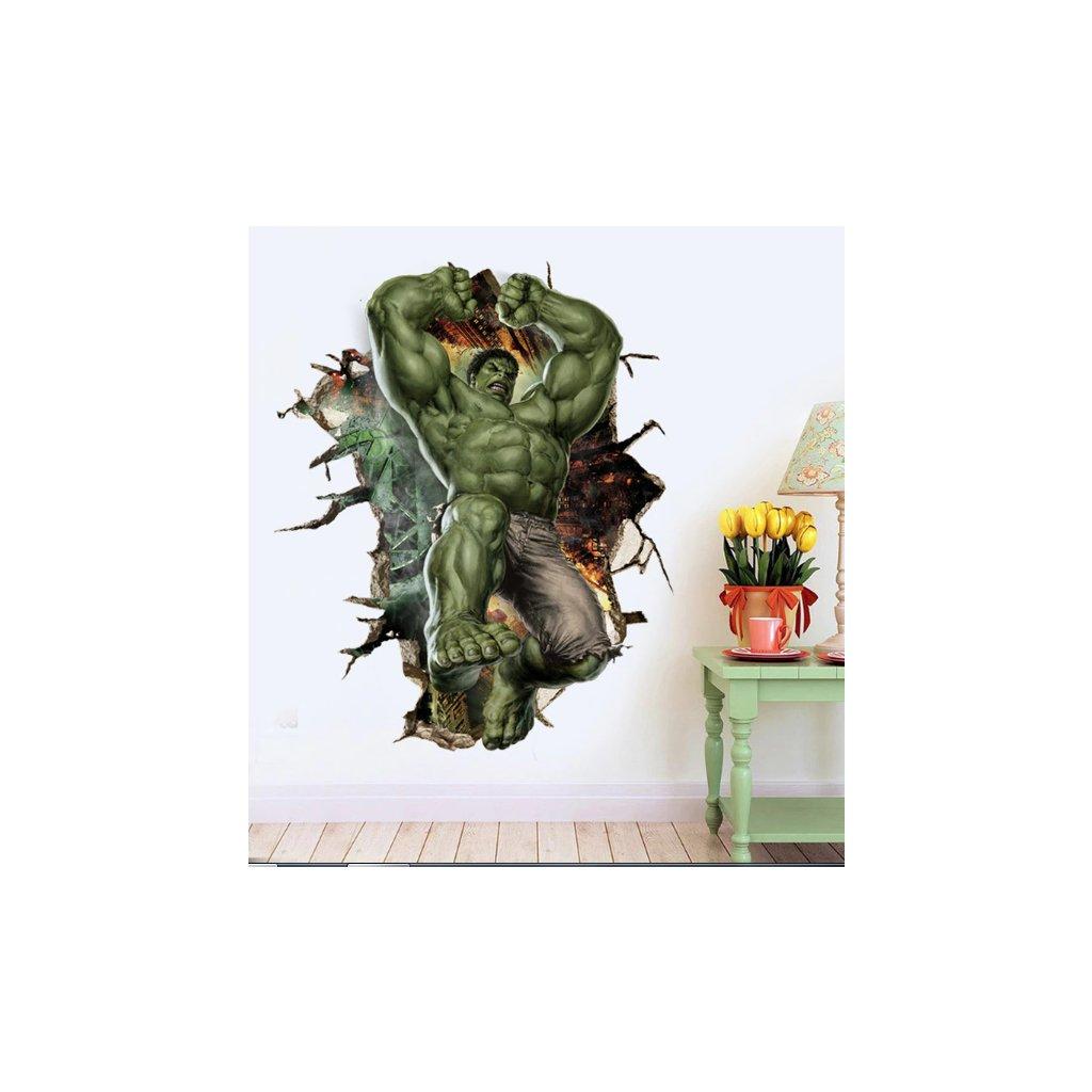 Samolepka na stenu Silný Hulk z Avengers