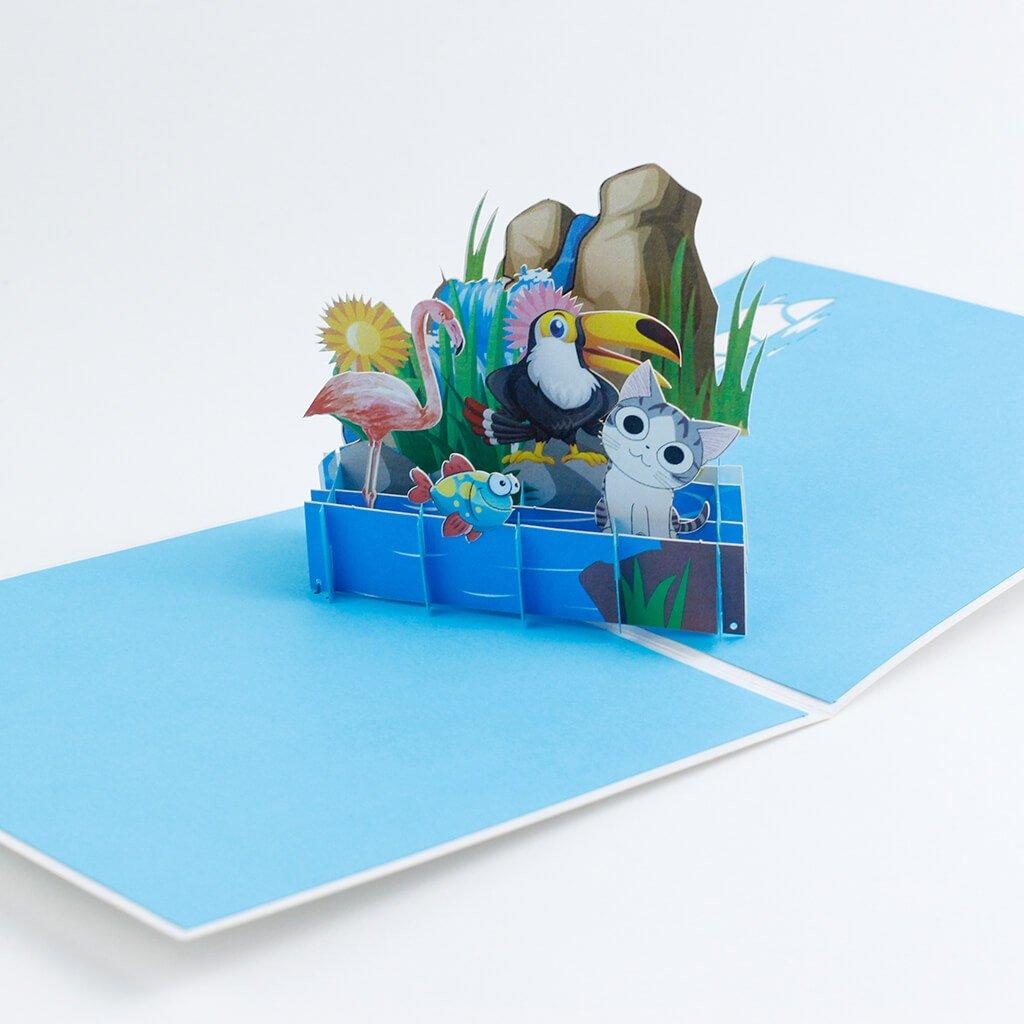 3D prianie Zvieratká pri vode