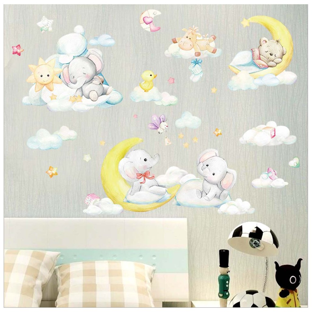 Samolepka  na stenu Spiace zvieratka